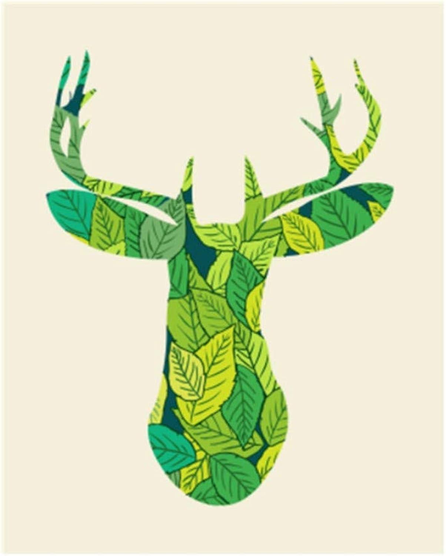 CZYYOU Bild Hirsch DIY Malerei by Zahlen Bunte Bild Wohnkultur Für Wohnzimmer Hand Einzigartige Geschenke 40x50cm-Ohne Rahmen B07PQQRPSP | Gute Qualität