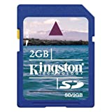 Kingston Technology 2GB SD Card 2GB SD Memoria Flash - Tarjeta de Memoria (SD, Azul, -25-85 °C, -40-80 °C, 24 x 32 x 2,1 mm, 9-Pin SecureDigital (SD))