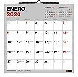 Miquelrius 28034 - Calendario de Pared 300 x 300 mm para escribir Gris 2020 Básico...