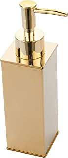 BGL Soap Dispenser,Stainless Steel Liquid Hand Free Standing (Gold, Square)
