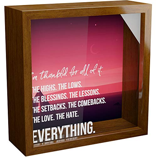 Appreciation Gifts   6x6x2 Wooden Shadow Box   Memory Frame with Glass...