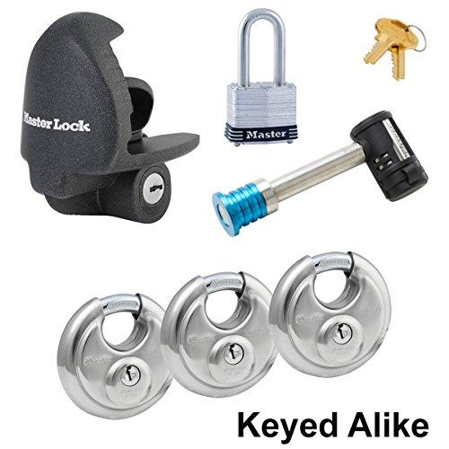 Master Lock - 6 Trailer Locks Keyed Alike #6KA-37940-3