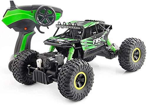Zhangl Coche teledirigido 2.4Ghz Alta Velocidad Coche teledirigido, RC Stunt Car Todo Terreno 1:18 4WD Buggy Coches de Juguete for Niños Niñas (Color : Verde)