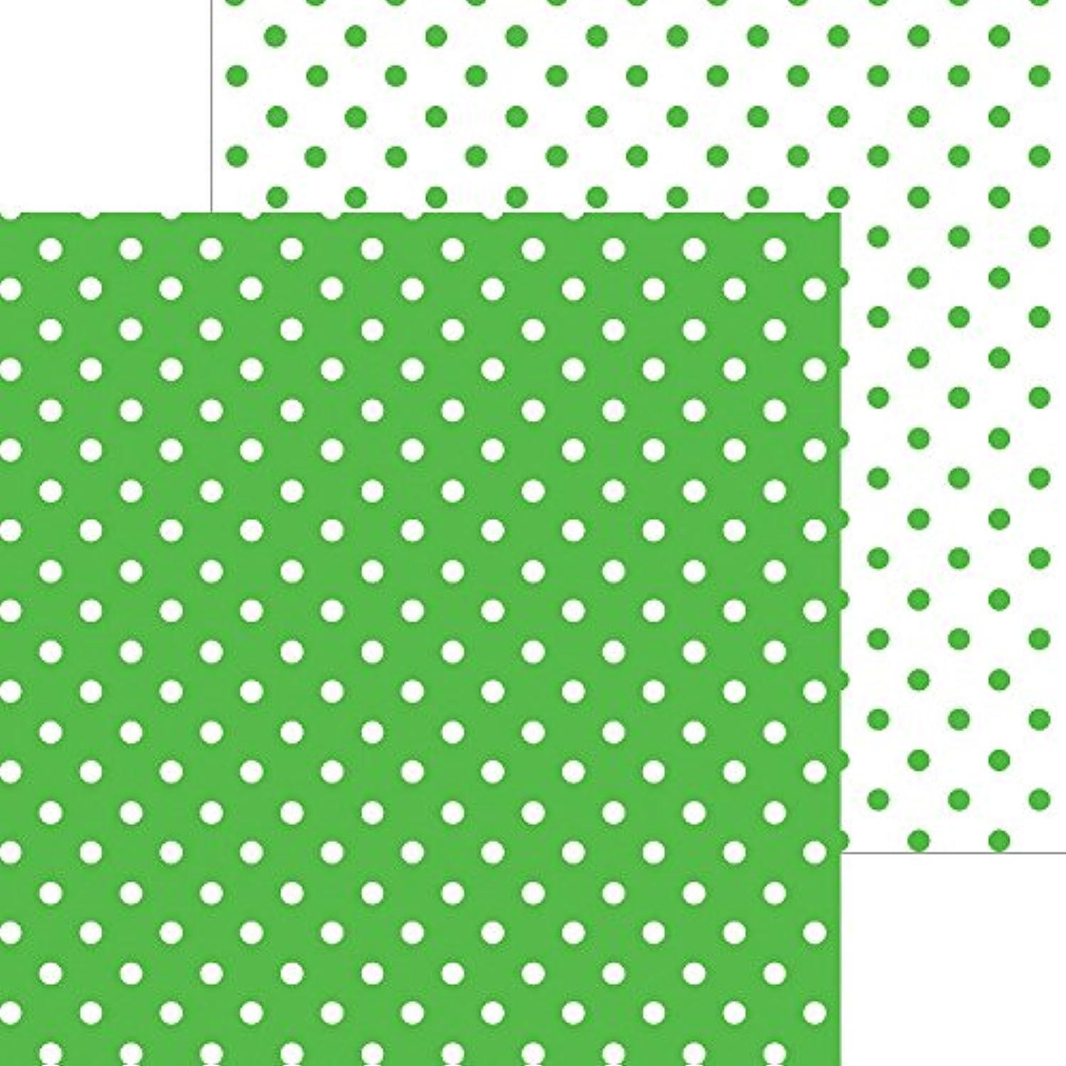 DOODLEBUG 5064 Petite Swiss Dot Cardstock (25 Sheets Per Pack), 12