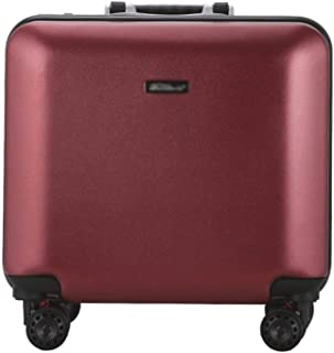 XLHJFDI Lightweight Trolley Case,Business Trolley Case,Boarding The Chassis, Universal Wheel Suitcase,ABS+PC Hard Shell Travel Case (Color : Red)