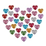 arricraft 200PCS Cabochons, Plastic Resin Cabochons, Flat Back Heart Beads, Cabochon Embellishments for Craft Scrapbooking Jewelry Making-Mixed Color