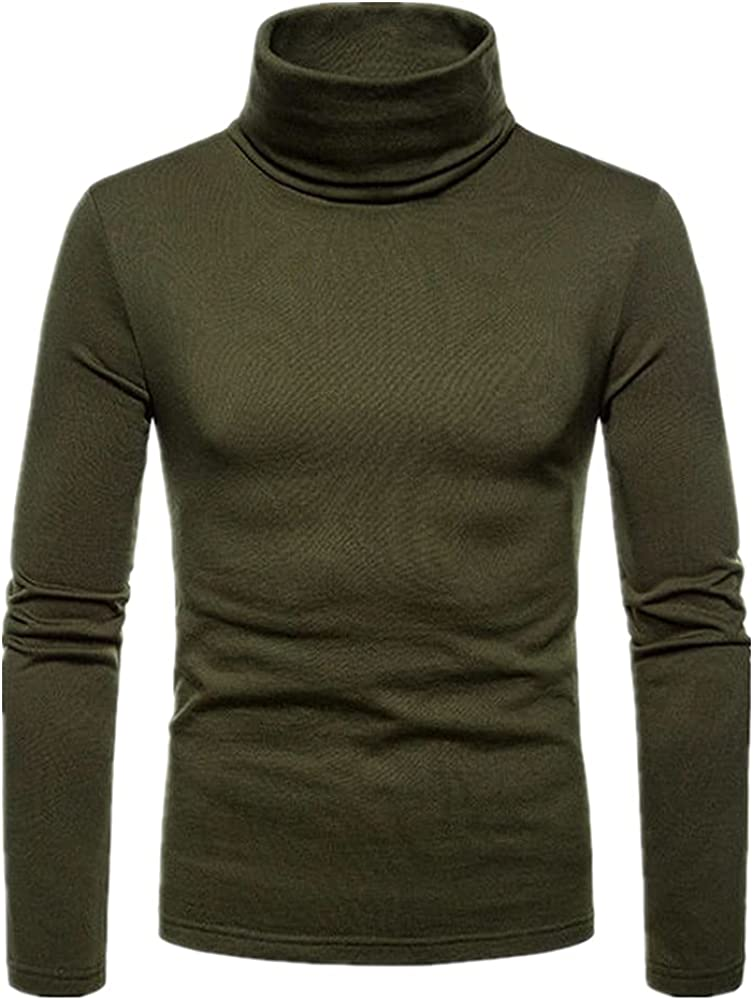 N\P Men's favorite Casual Slim Fit Basic Sweater Male Outlet ☆ Free Shipping Doub Knitted Collar
