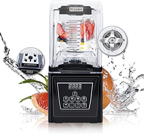 WantJoin Standmixer Smoothie Maker, Wasserfreies Crushed Ice, extrem leise, High-Speed Programm, einfache Reinigung, Zeiteinstellung, 2L Hochleistungsmixer ohne BPA, 4 Vorprogramme