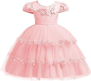 IBTOM CASTLE Flower Pageant Peplum Tutu Dress for Baby Girl Baptism Formal Party Wedding Pageant Dance Short Gown