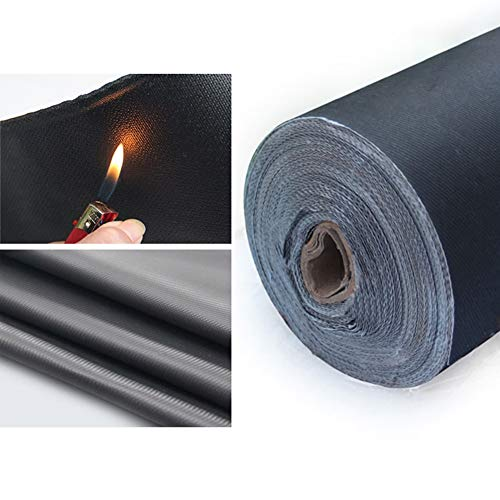 GDMING-Tarpaulin Heavy Duty Welding Fireproof Cloth High Temperature Resistance Ventilation Hose Temporary Shed Construction, 35 Sizes, 2 Colors (Color : Black, Size : 2.4x3m)