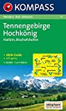 Carta escursionistica n. 15. Austria superiore. Tennegebirge, Hochkönig, Hallein, Bischofshofen 1:50.000. Adatto a GPS. Digital map. DVD-ROM. Ediz. bilingue