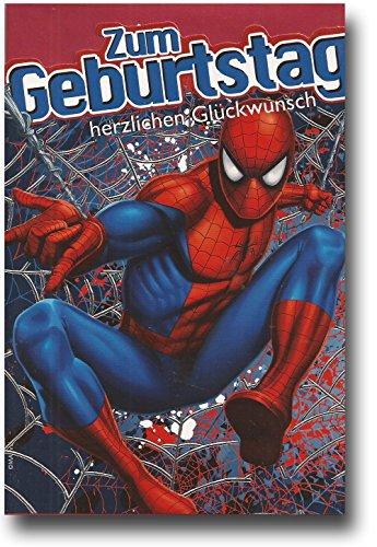 Spiderman Glückwunschkarte Grußkarte Geburtstag 51-0539