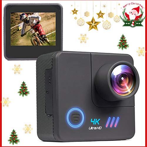 OnReal アクションカメラ4K画質 1600万高画素 WIFI搭載 40M防水 水中カメラ 170度広角調整可能 動体検知 手ブレ補正 スポーツカメラ1050mAh大容量バッテリー 連続使用2時間可能 連写・タイムラプス・定時撮影 HDMI出力 アクセサリー多数 車載モードバイク/自転車/車に取り付け可能 (X7)