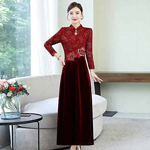 CIDCIJN Chinesisches Kleid - Qipao Traditionelles Chinesisches Orientalisches Kleid Frauen Cheongsam Brautkleid Qi Pao Moderne Elegante Chinesische Kleider Asiatisches Kleid, 4XL