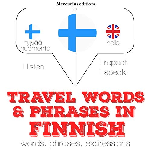 Travel words and phrases in Finnish audiobook cover art