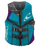 O'Neill  Women's Reactor USCG Life Vest, Turquoise/UV/Black,4