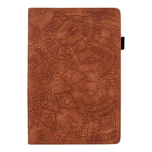 YYLKKB para Samsung Galaxy Tab S4 T830 T835 SM-T835 SM-T835 10.5 Caja de la Cubierta de la Cubierta de Cuero de la Vendimia de Lujo.-marrón