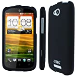 HTC One VX Case, Empire Hard Rubberized Case Cover for HTC One VX - Black