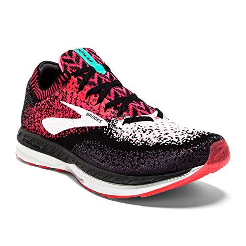 Brooks Womens Bedlam Running Shoe - Pink/Black/White - B - 6.5