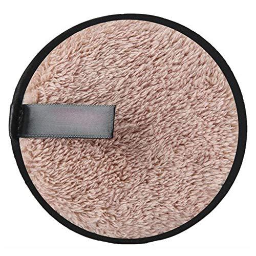 1 UNID Suave Microfibra Removedor de maquillaje Toalla de tela Almohadillas Remover Toalla Limpiador Facial Removedor de maquillaje Toalla Agua clara Uso perezoso - Café