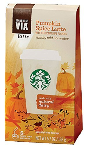 Starbucks VIA, Ready Brew, Pumpkin Spice Latte (1 Box-5 ct)