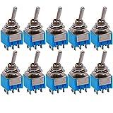 Taiss/10 pcs ON/OFF, ON/OFF/ON (vous pouvez choisir) Mini interrupteur à bascule miniature pour tableau de bord de voiture
