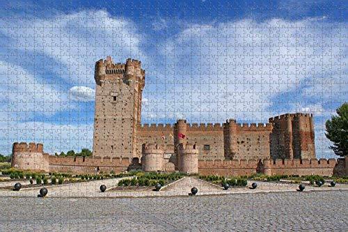 SHENLIJUAN 1000pcs Puzzle Rompecabezas Piezas Adultos Rompecabezas Castillo de Valladolid, España Regalo para niño Bricolaje Brain Challenge