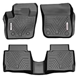 YITAMOTOR Floor Mats Compatible with Fusion & MKZ, Custom Fit Floor Liners for 2013-2016 Ford Fusion Energi & Titanium, Lincoln MKZ, 1st & 2nd Row All Weather Protection, Black