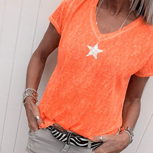DAIDAINDX S-5Xl Harajuku Summer T Shirt Women Fashion Pentagram T-Shirt Woman Tops Casual