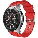 TiMOVO Pulsera para Samsung Galaxy Watch 46mm, Pulsera de Silicona, Correa de Reloj Deportivo, Banda de Reloj de Silicona para Samsung Galaxy Watch 46mm, 140mm-210mm (5.51 Inch – 8.26 Inch) - Rojo