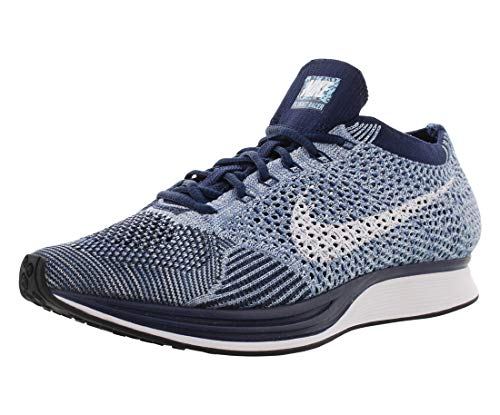 Nike Flyknit Racer Mens Running Trainers 862713 Sneakers Shoes (UK 6 US 7 EU 40, Blue Tint White 401)