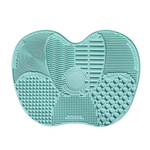 LZJE Foundation Makeup Brush Scrubber Board Silicone Makeup Brush Cleaner Pad Make Up Wash Brush Gel Cleaning Mat, 05