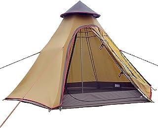 camping strand enkelt tält utomhus campingtält vattentätt dubbla lager tipi-tält utomhus camping 3,1 m/3,0 m familjetält p...