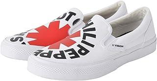 【予約商品】 RED HOT CHILI PEPPERS レッチリ (サマーソニック 来日記念) - CANVAS SLIP-ON RHCP White/VISION STREET WEAR(ブランド) / スニーカー/レディース 【公式/オフィシャル】