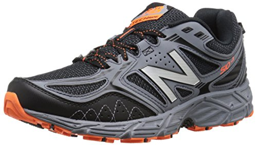New Balance Men's 510v3 Trail Running Shoe, Black/Grey, 11 4E US