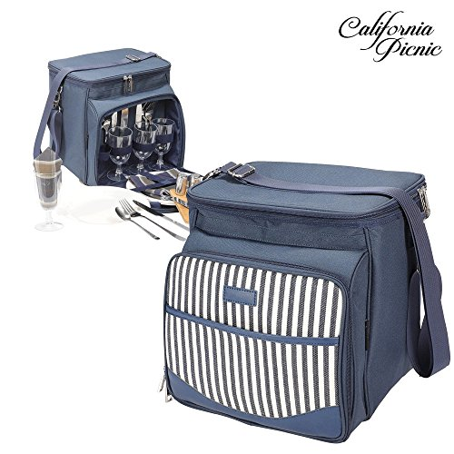 Find Cheap Picnic Basket Tote | Picnic Shoulder Bag Set | Stylish All-in-One Portable Picnic Bag for...