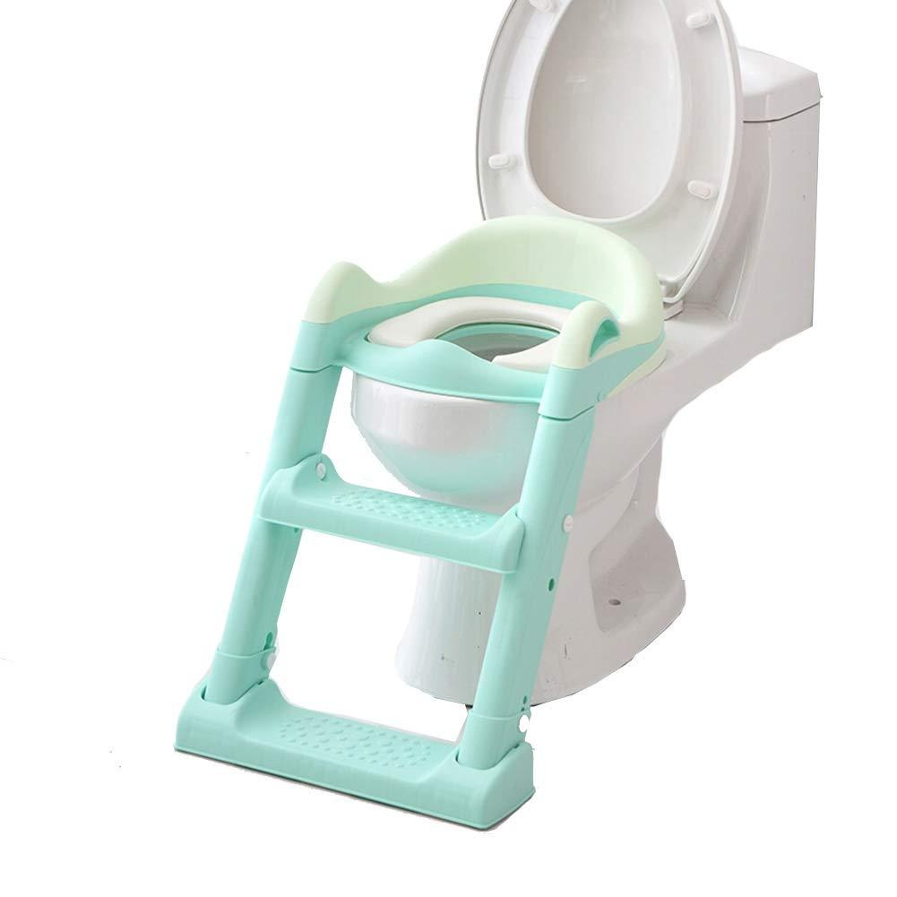 Aseo Escalera Asiento -Diseño Plegable Escalera De Asiento De Inodoro para Niños, Antideslizante, Suave, Antideslizante, para Bebés, para Bebés Entrenamiento Haiming (Color : Green): Amazon.es: Hogar