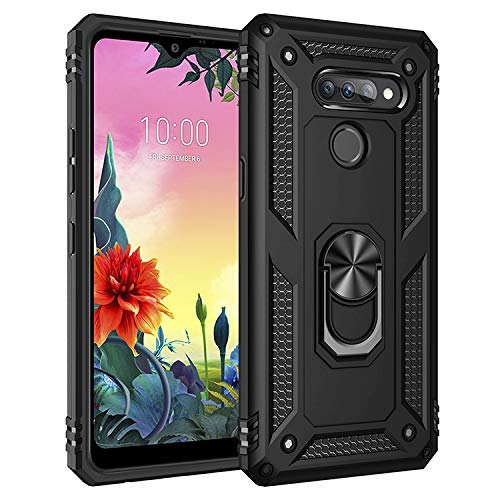 BestST LG K50S Hülle 360 Grad Handyhülle Bumper Hülle Robust Cover [Ultra Hybrid Schutzhülle ]+ Bildschirmschutz für LG K50S Schwarz