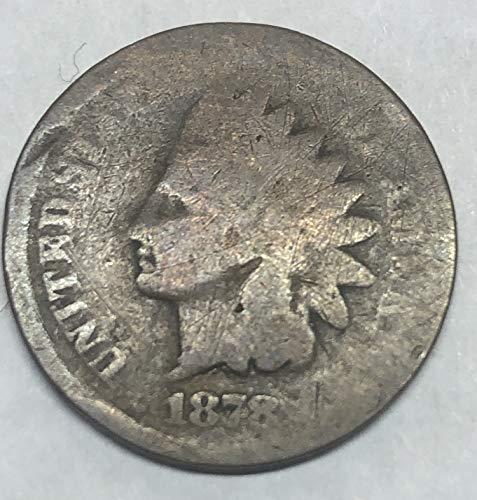 1878 P Indian Head Wild West ERA Penny Cent Good