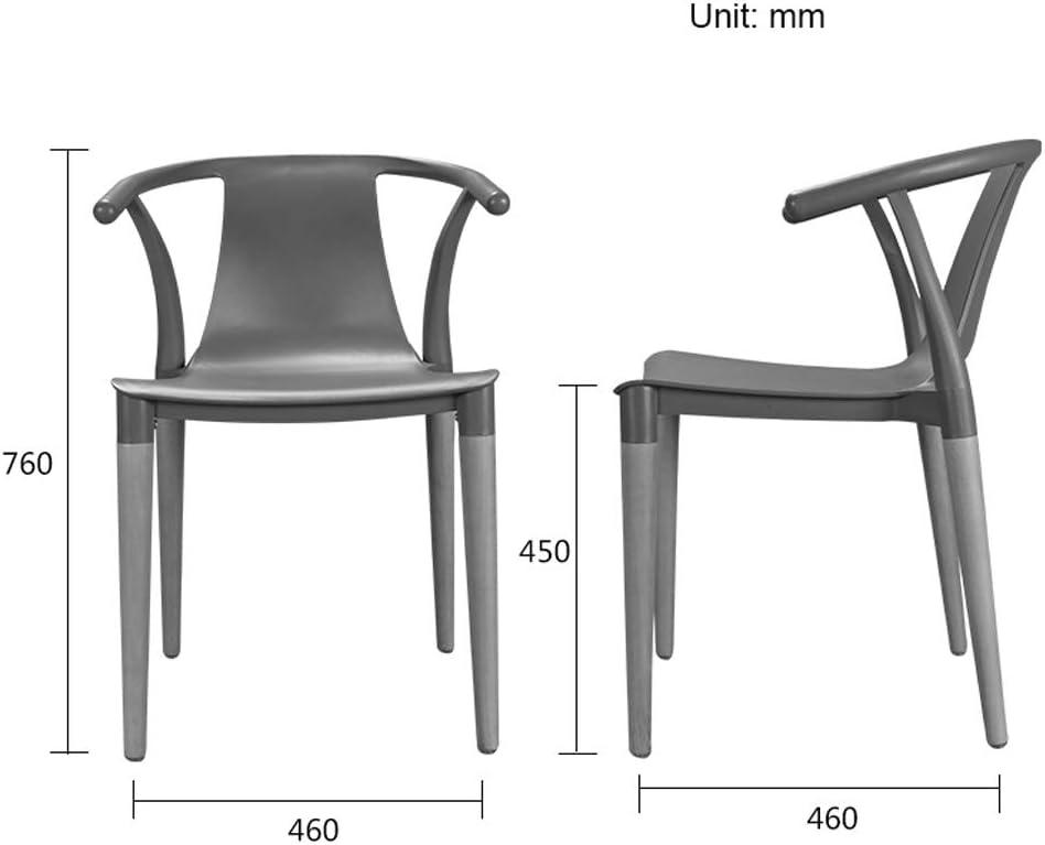 FENDOU Chaise de salle à manger simple, dossier créatif, chaise de loisirs, chaise de salle à manger pour adulte (couleur : jaune) Jaune