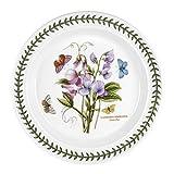 Portmeirion Botanic Garden Dinner Plate, 10.5', Sweet Pea, White
