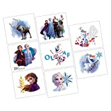 """Amscan Frozen 2 Birthday Tattoos, Party Favor, 2"""" x 1.75"""", 8 Ct"""