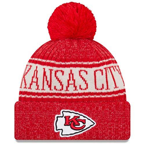 New Era NFL Sideline 2018 Bobble Mütze - Kansas City Chiefs