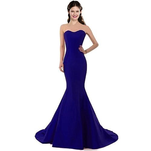 Royal Blue Mermaid Dress: Amazon.com