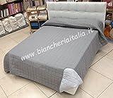Caleffi Tagesdecke für Einzelbett, Art.Modern 022 Grau