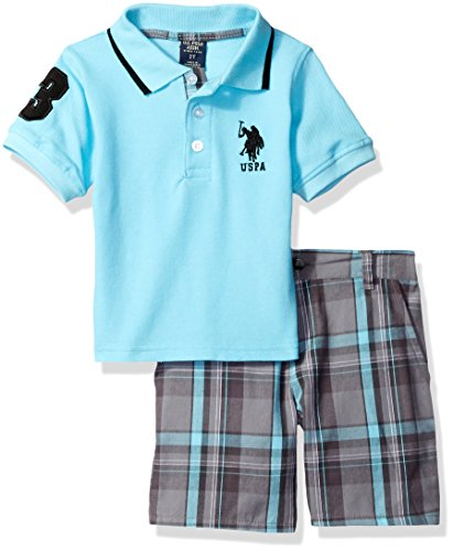 U.S. Polo Assn. Boys' Little Embellished Pique Polo Shirt...