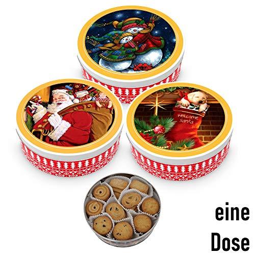 Becky´s 1 x Danish Butter Cookies/Dänische Butter Kekse - Gebäck in Weihnachtsdose - 454 g