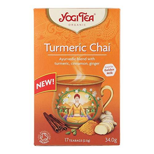 Yogi Organic Tea Turmeric Chai 17 Tea Bags 34g Blend with Turmeric, Cinnamon and Ginger (2)