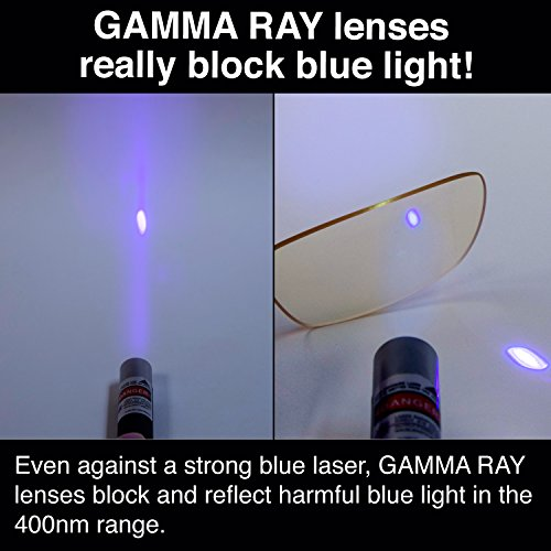 GAMMA RAY FLEXLITE GR OG-003-C1 Computer Readers Glasses With 0.00 Magnification in Flexible Frame Anti UV Blue Light and Anti Harmful Glare by Gamma Ray Optics