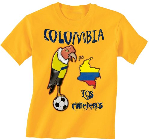 Colombia Football Mascot Kinder childrens Boys/Girls Kids World Cup T-Shirt